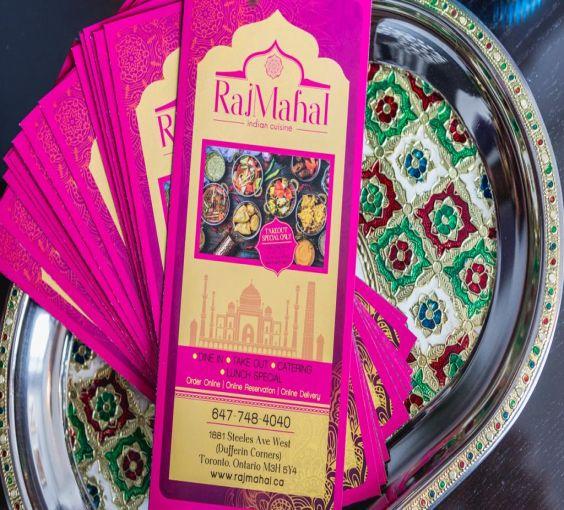 Raj Mahal Menu